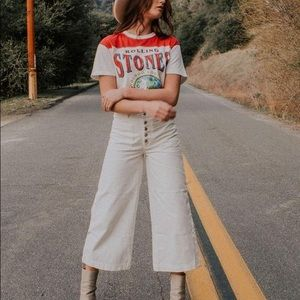 Free People • colette wide leg white jeans
